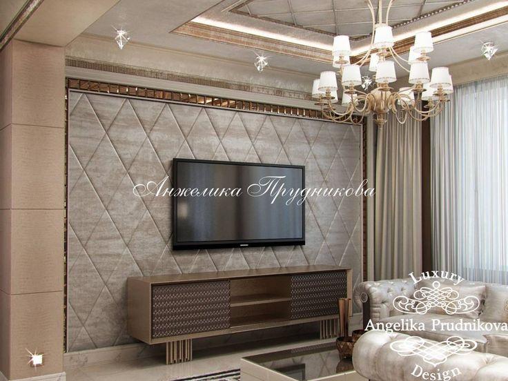 Дизайн Проект Интерьера гостиной в элитном поселке Гринфилд в стиле Ар Деко - фото