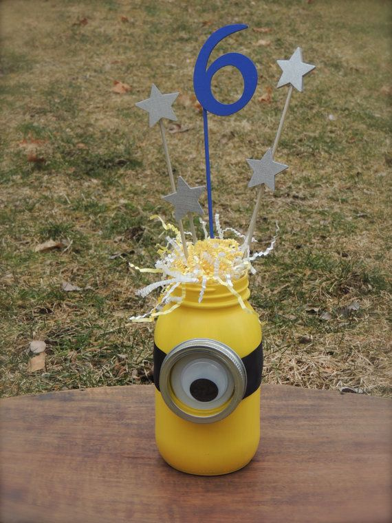 Minion Centerpiece by BoutiqueTwentyTwo on Etsy