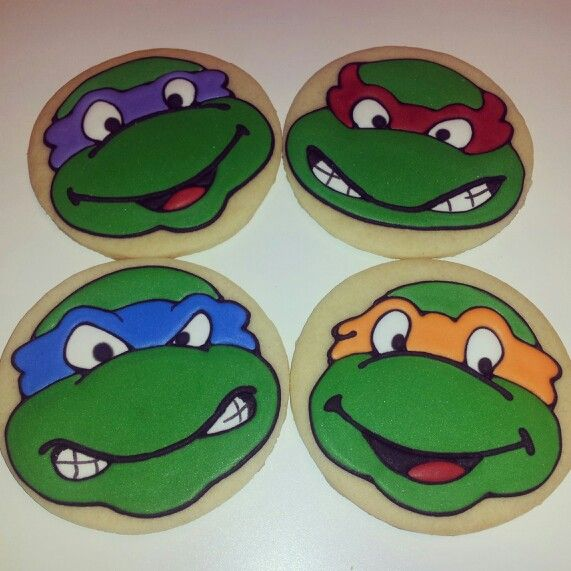 Ninja Turtle Cookies for the party. | party | Pinterest ...