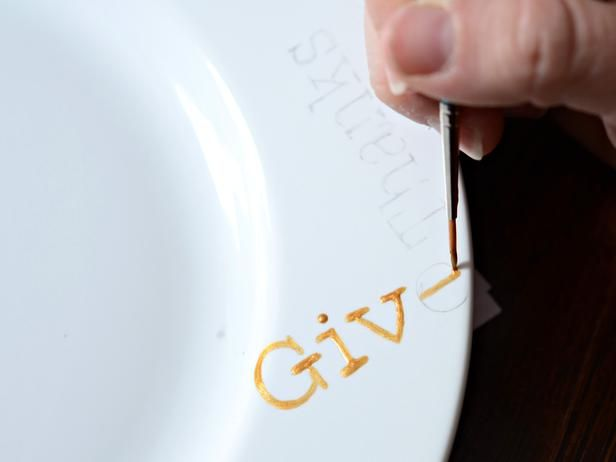Painting plates tutorial, possibly for new dishes we won in a raffle this weekend.