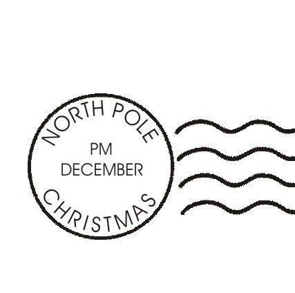 Postage Stamp Clip Art Black And White north pole bound | chr...