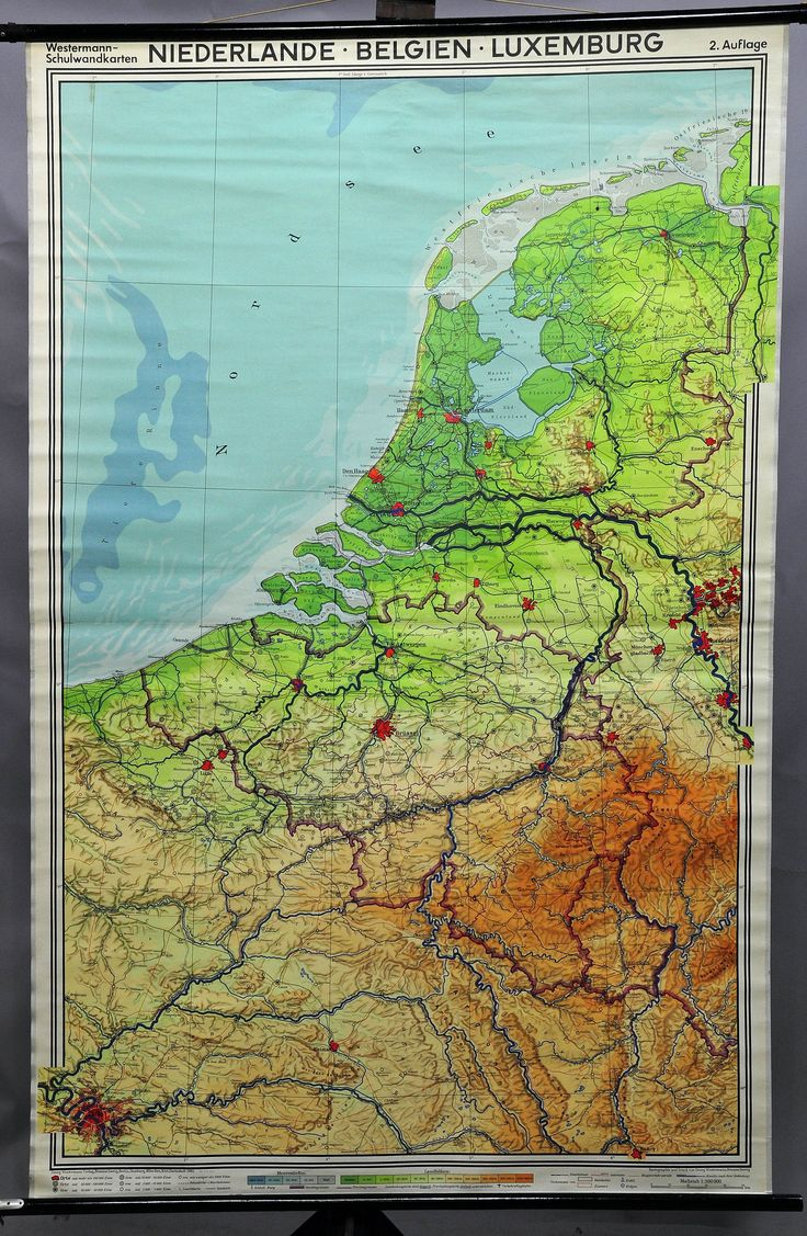Netherlands Map Of Country%0A vintage poster geographical wall chart  map  Netherlands  Belgium   Luxembourg