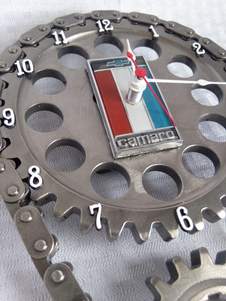 Camaro Chevrolet Emblem Timing Gear Set Wall Clock Camaro