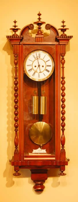 Minature Vienna Wall clock