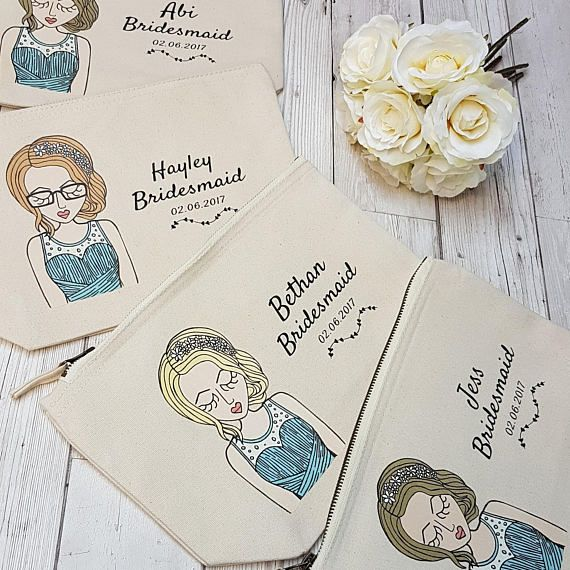 Hey, I found this really awesome Etsy listing at https://www.etsy.com/uk/listing/552993261/personalised-bridesmaid-makeup-bag-be-my