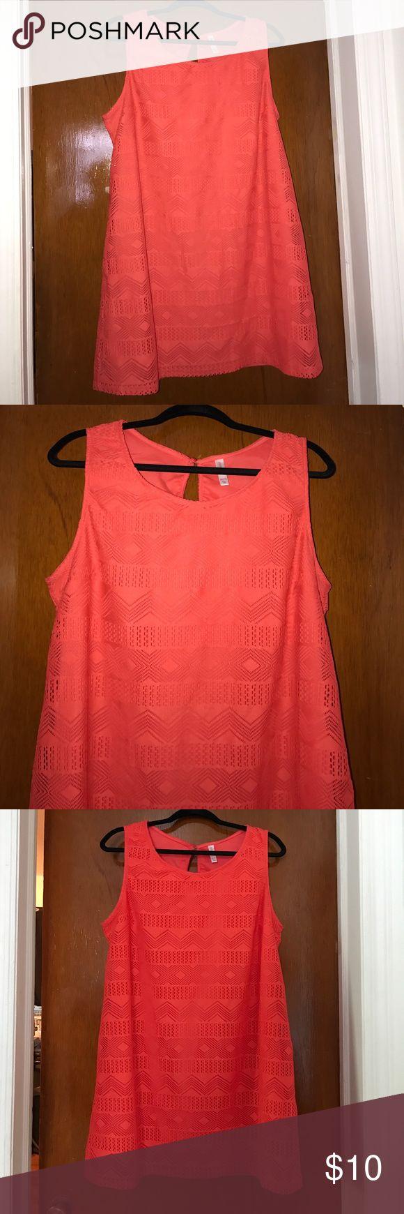 Xhilaration bright orange sleeves dress. SUPER CUTE XXL Plus Size Xhilaration (Target Brand) bright orange sleeves dress. Length is above the knee.  Fits Plus size 16.  NEW WITHOUT TAG, NEVER WORN Xhilaration Dresses Midi