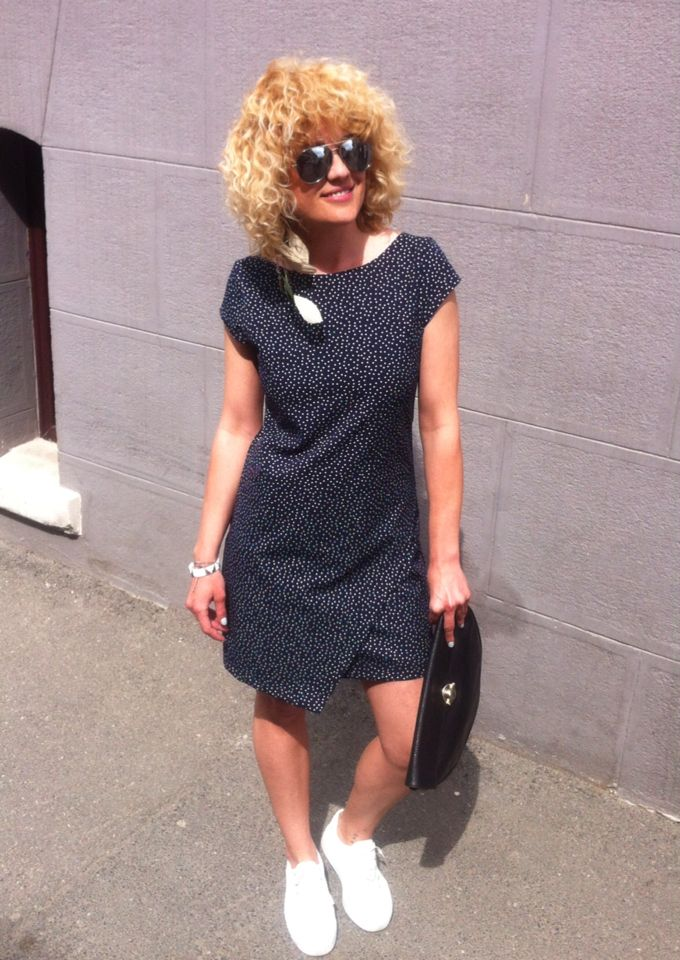 big time polka dots #zara dress #Asos shoes #boho earrings #rayban aviators #streetstyle #outfitoftheday