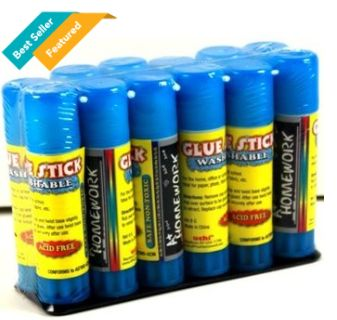 Glue sticks, for school supply or office supplies, these wholesale discount cheap bulk glue sticks are priced right.
