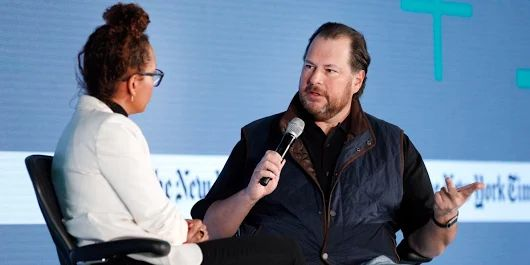 Salesforce CEO Marc Benioff explains why a Hindu guru and Colin Powell were critical mentors