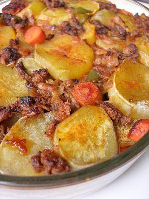 Almost Turkish Recipes: Potato Casserole (Patates Oturtma)