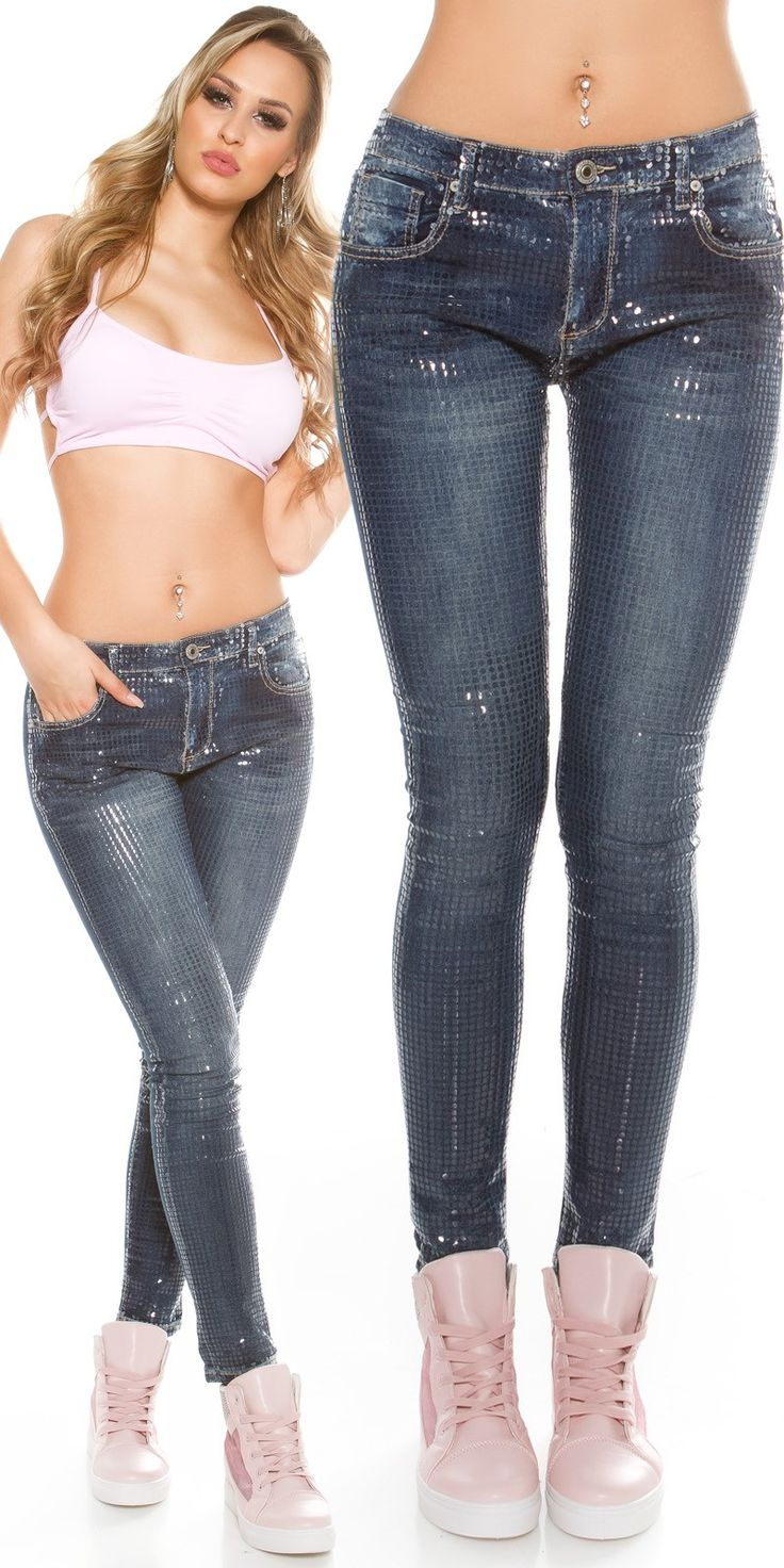 Sexy Sequin front Skinny Jeans - Koucla - Skinny Jeans Online.