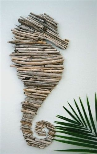 Drifting through your day in Sayulita can be a creative adventure...Bring a bolso (bag) and collect driftwood on the beach and around town...grab an empty cereal box to use as cardboard, some white glue and create your own special seahorse to hang at home www.CasitasSayulita.com