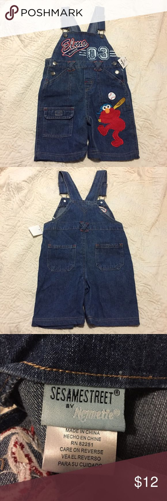 NWT Elmo Sesame Street Denim Overalls SZ 3T These Children's Elmo Sesame St jumpsuit denim jean overalls are brand new with tags attached. Size 3T. Sesame Street Bottoms Jumpsuits & Rompers