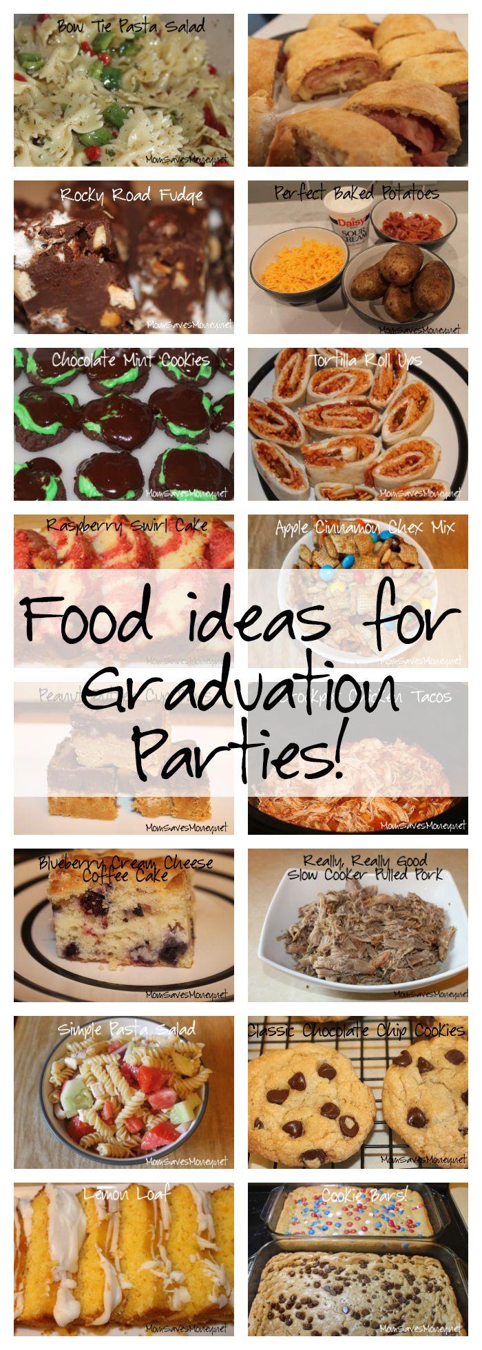 Menu Ideas for Graduation Parties! – Mom Saves Money