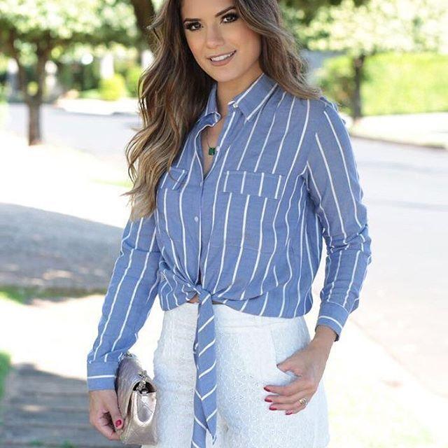 O shorts de #laise com babado dá o toque romântico ao look do dia. Já nas lojas!  @arianecanovas  #newcollection #summer2018 #beuniquechic
