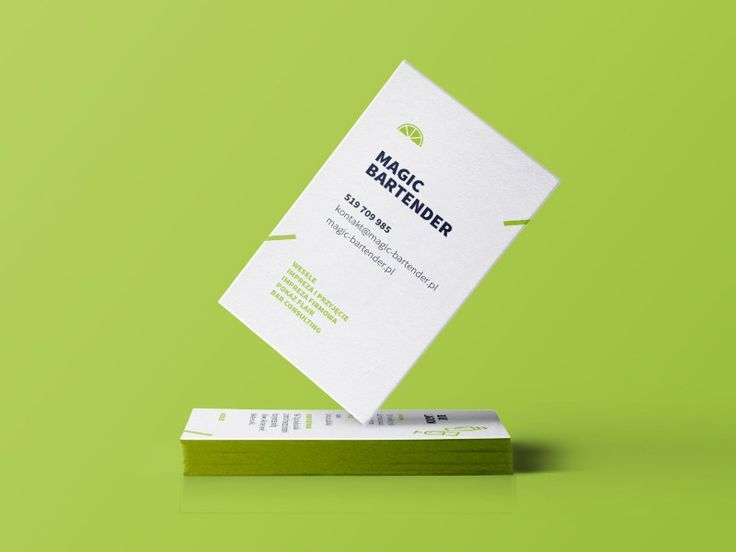 this is the business card for magic bartender the card has a lovely minimal and clean design great work by magorzata f