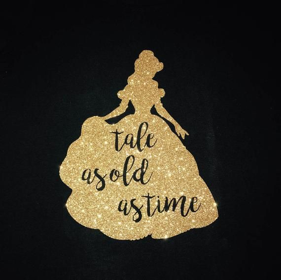 Belle Tale As Old As Time Svg Png Instant Download Svg Png File The Glitter Image Shown Is Beauty And The Beast Diy Beauty And The Beast Glitter Images