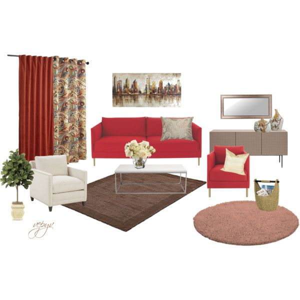 """Warm atmosphere living room"" by viktoria-vepy on Polyvore"