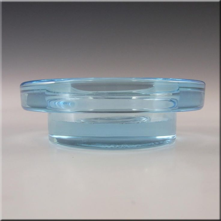 Iittala Blue Glass 'Halo' Candle Votive/Bowl - Labelled - £29.99