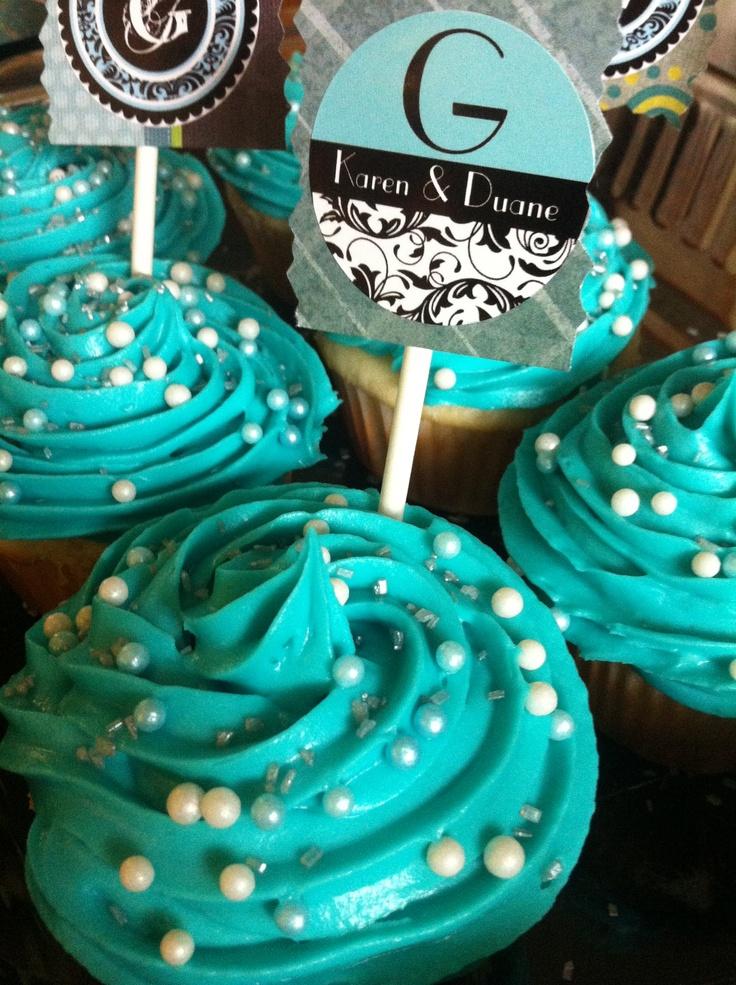 Teal Wedding Cake Boxes