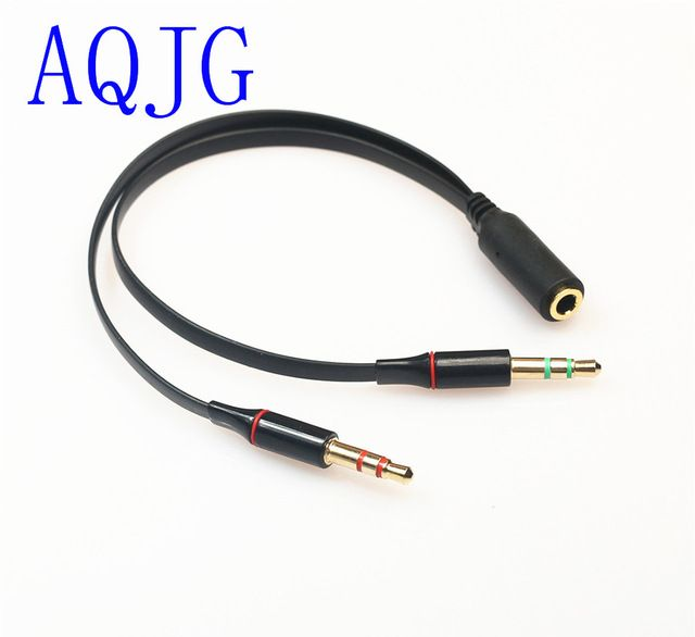 3 5 Mm Stereo Mini Jack 1 Female To 2 Male Y Splitter Earphone Audio Cable Aqjg Review Audio Cable Earphone Stereo