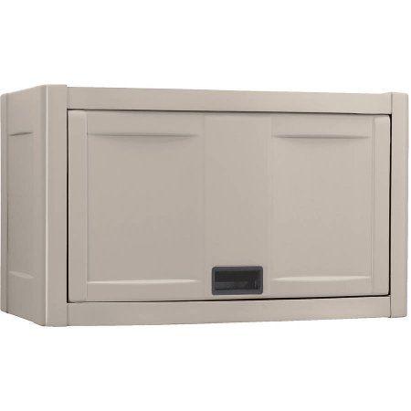 Suncast Garage Wall Cabinet, Taupe, Beige