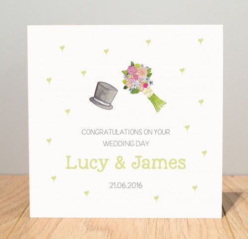 Best 7 personalised wedding cards images on pinterest card wedding personalised handmade wedding card stopboris Image collections