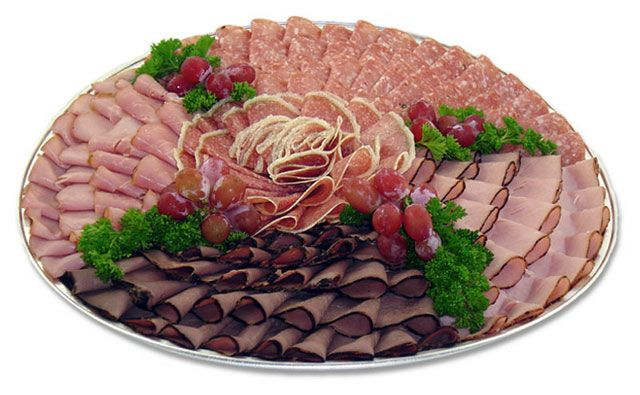 Food For Party Platter  recipes | delicious selection of imported cold meats, including ham, roast ...