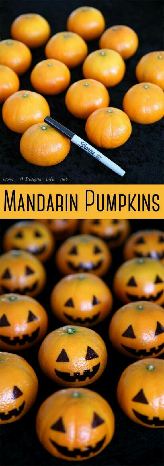 Halloween party ideas for kids... little citrus pumpkins =)