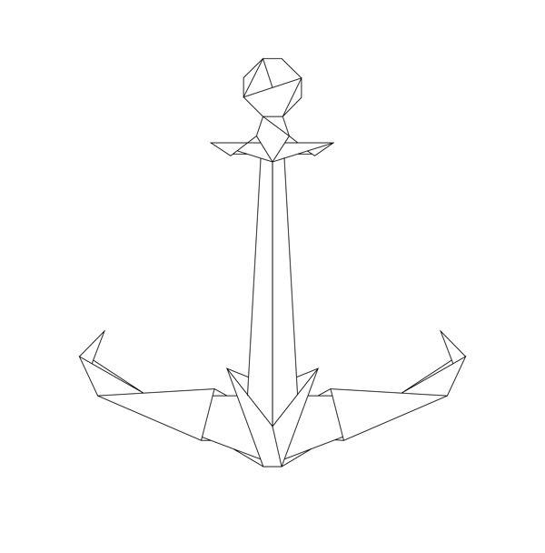 Origami Anchor by Dave Ruggeri, via Behance