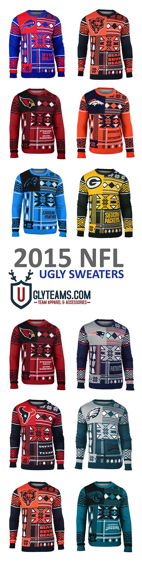 2015 NFL Ugly Sweaters from Uglyteams