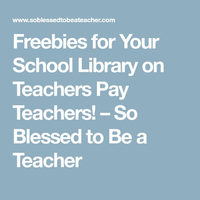 Freebies for Your School Library on Teachers Pay Teachers! – So Blessed to Be a Teacher