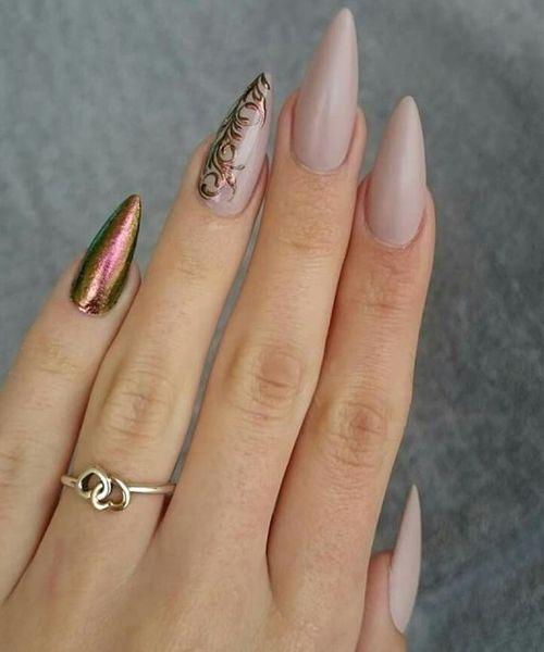 Elegant Stiletto Nail Art: Super Elegant Prom Stiletto Nail Art Designs