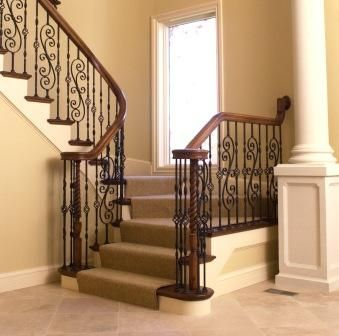 wrought iron staircases | Fitts' Sheraton Style Stair Components & Wrought Iron