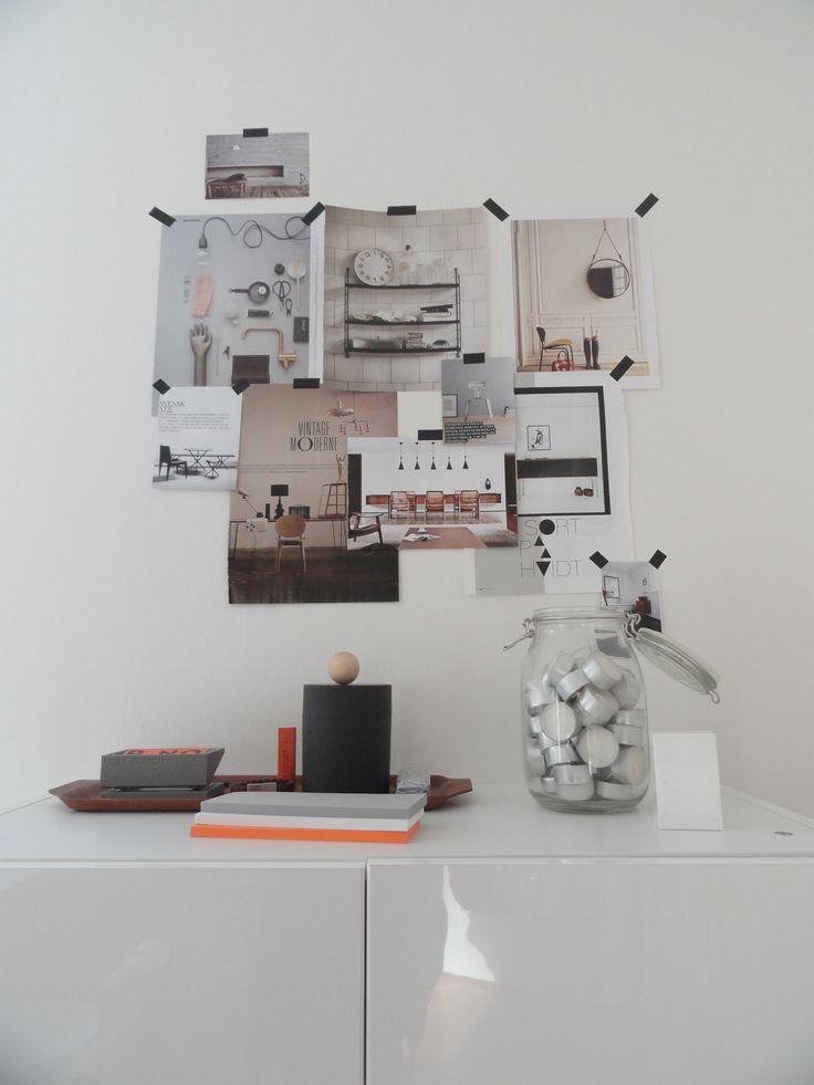 Inspirational wall, masking tape // Ems Designblogg