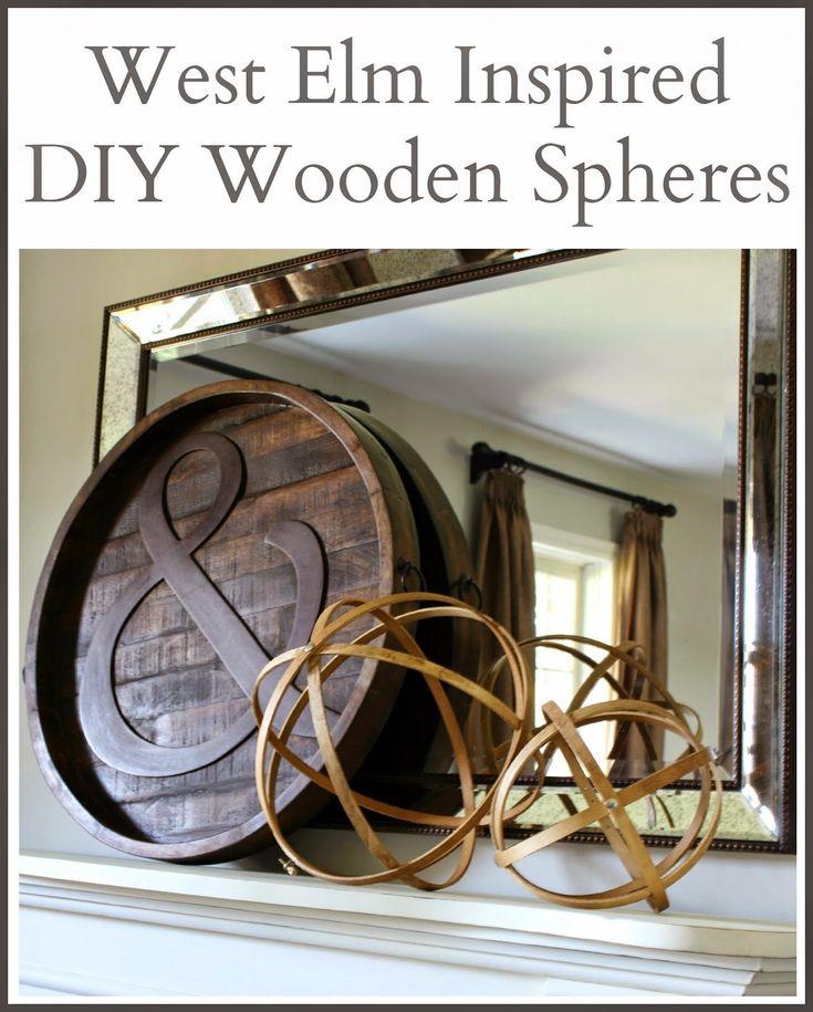 West Elm Inspired DIY Wooden Spheres | Hymns and Verses