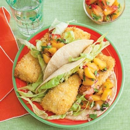 Tacos with Peach Salsa: Fish Tacos, Slow Cooker Recipe, Peaches Salsa ...