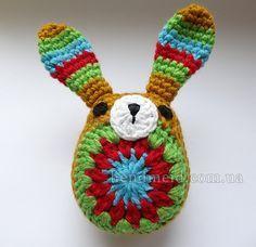 Вязаный крючком кролик