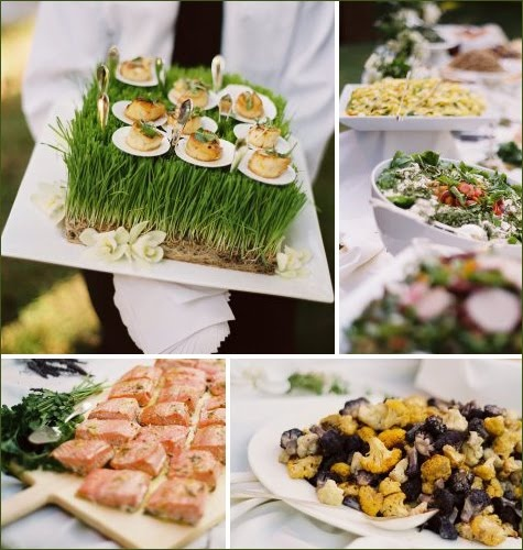 Appetizer Only Wedding Reception: Passed Appetizers Rented Bliss