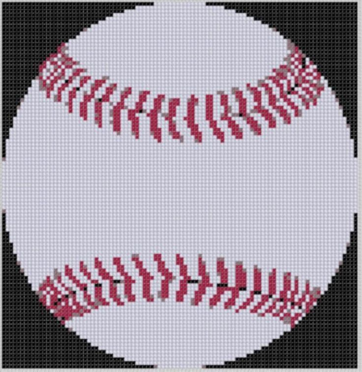 Baseball 2 Cross Stitch Pattern