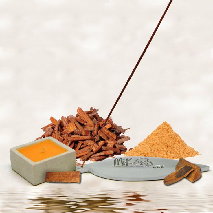 Sandalwood Scented Incense, Steel Holder and Candle Gift Pack from MiKeRa.