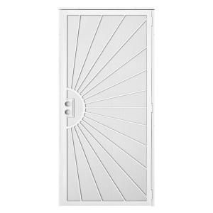 Unique Home Designs, Solana 36 in. x 80 in. White Outswing Security Door, 5HS610WHITE36 at The Home Depot - Mobile