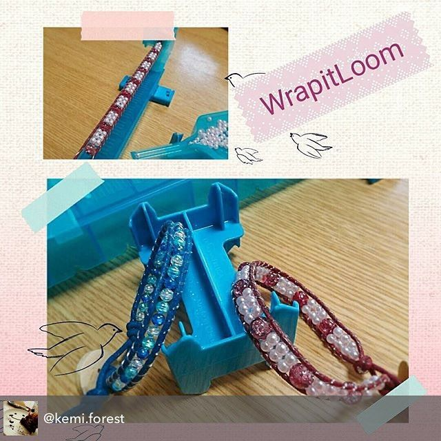 Marvelous Wrapit Loom Bracelets by @kemi.forest  #wrapitloom #wrapitloombracelet