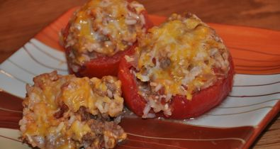 Oven (or Crockpot) Stuffed Tomatoes