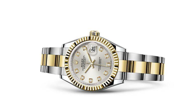 Entdecken Sie die Lady-Datejust 28 Uhr in Rolesor gelb (Kombination aus Edelstahl904L und 18KaratGelbgold) auf der offiziellen Website von Rolex. Modell:  279173