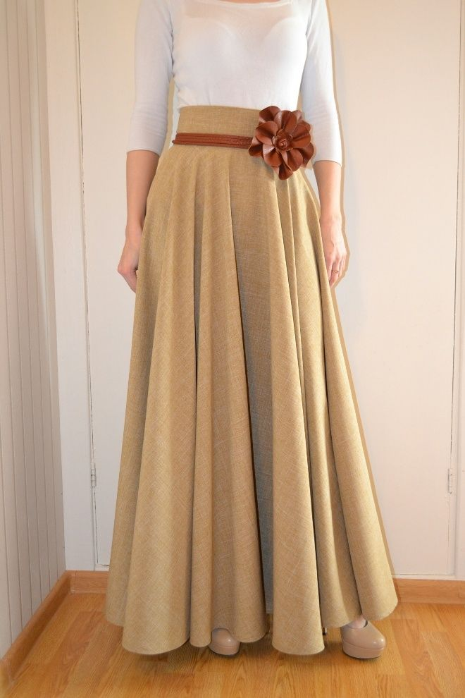 Как сшить теплую зимнюю юбку на синтепоне (из плащевки)Длинная юбка в пол