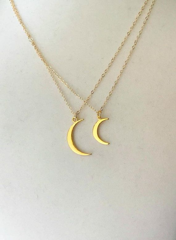 Crescent Moon Necklace Moon Necklace Positive Gift Gold Plated Crescent Moon Necklace Positive Affirmations