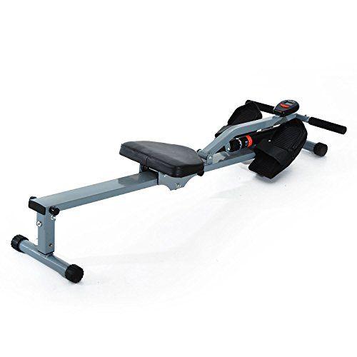cool Máquina de Remo Ajustable con Pantalla para Fitness y Ejercicios de Musculación o Resistencia para Gimnasio en casa