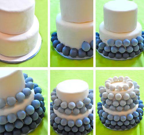 DIY Tutorial: Cake Ball Cake: Cakes Tutorials, Cakes Ideas, Cakes Recipes, Diy Tutorials, Cakes Ball Cakes, Cupcakes With Cakes Pop, Ball Birthday Cakes, Baby Shower, Pop Cakes
