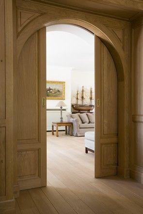Arched pocket doors. #design #interiors - Den?